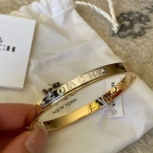 NWT Coach Two-Tone Bangle Bracelet